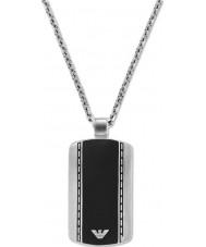 Emporio Armani EGS1921040 Mens гладкий бархат два тона стали ожерелье
