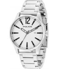 Police 14764JS-04M Мужские серебряные стали Далласа браслет часы