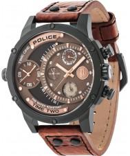 Police 14536JSB-12A Мужские сумматор коричневый кожаный ремешок смотреть