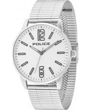 Police 14765JS-04M Мужские Esquire серебряные часы стальной браслет