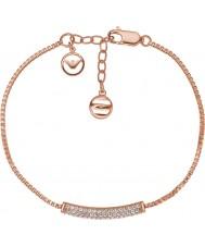 Emporio Armani EG3260221 Дамы STELLE чистого розового золота Pave стерлингов серебряный браслет