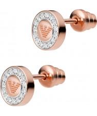 Emporio Armani EG3054221 Дамы чистый орел 18ct розовое золото гальваническим серьги стержня
