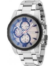 Police 14541JSTB-13M Мужские matchcord серебряные часы стальной браслет