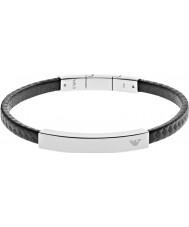 Emporio Armani EGS2063040 Мужская подпись стальной браслет черный углерод