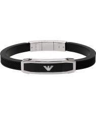 Emporio Armani EGS1543040 Мужские декор черный браслет