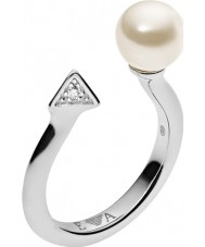 Emporio Armani EG3288040-6.5 Дамы декоративный элемент жемчугу кольцо стерлингового серебра - размер M.5