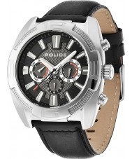 Police 13938JS-02 Мужские бунт cronograph черный кожаный часы